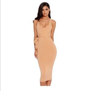 OhPolly - Bow All Out Double Layered Midi Dress